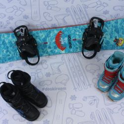 Burton Dominant 146 cm snowboard + bindings + boots