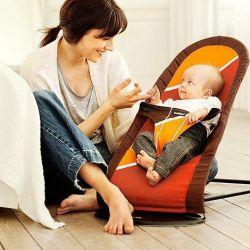 Deckchair BabyBjorn maro-portocaliu