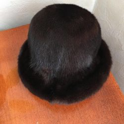 Mink hat used size 57 brown