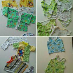 Lucruri (pachet) pentru un băiat (0-12 luni)