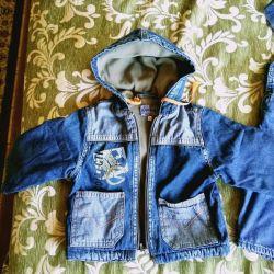 Куртка джинсовая детская утепленная