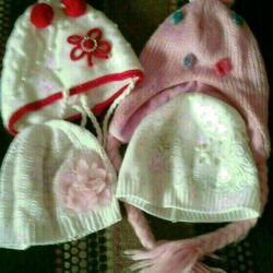 Καπέλα για ένα κορίτσι 4 τεμ