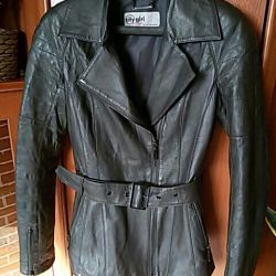 Leather jacket with a heater (lining)