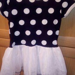Платье трикотажное с фатином рост 92-98