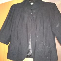 Wool jacket, 3/4 sleeve