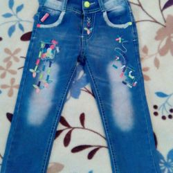 Jeans for a girl. 4-5 years