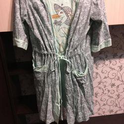 Bathrobe and shirt for future and nursing moms