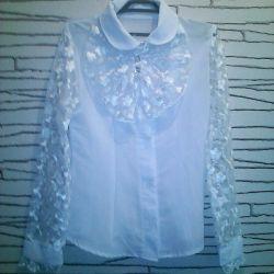 Нарядная школьная блузка.