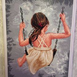 Diamond Embroidery Girl on a swing 40 * 50