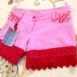 pink shorts with lace