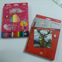 18 color pencils