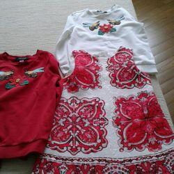 Νέα πουλόβερ και φορέματα για κορίτσια 7-8 ετών