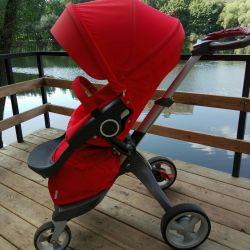 Stylish stroller Stokke Xplory Rent