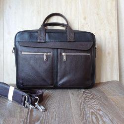 Деловая мужская сумка из кожи