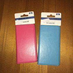 Δερμάτινο βιβλίο περίπτωσης για πρωτότυπο Lumia 550