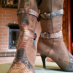 Exclusive boots. Cossacks or boho style.