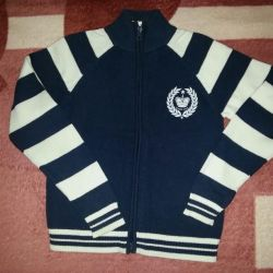 Cardigan with a zipper