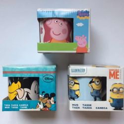 Peppa Mickey Mouse Minions Pig Mugs