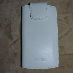 Λευκή κάλυψη δερμάτινης θήκη για Nokia