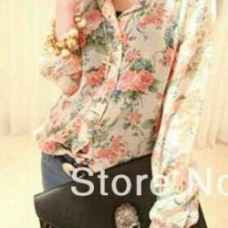 Flower blouse, new