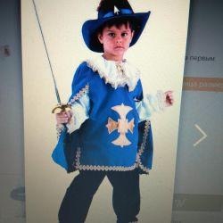 Musketeer carnival costume 146-152-158