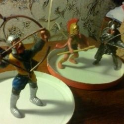 Figures of knights and archer