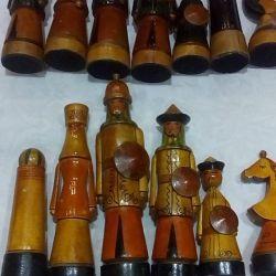 Bucăți de șah cadou din lemn URSS
