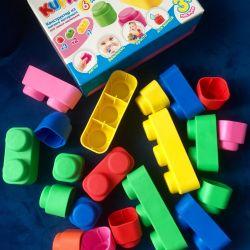 Çocuklar için tasarımcı Lego (20 parça)