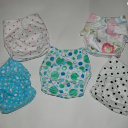 Velor reusable diapers. For swimming