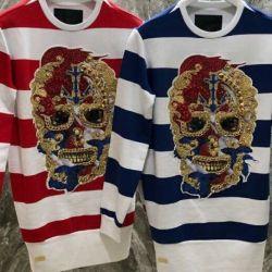 Philipp Plein ❤️Chrome sweatshirt with skull, ori