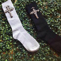 Socks with a cross