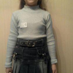 Ένα dandy με μια φούστα των 7-10 ετών
