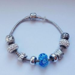 Pandora brățară albastră