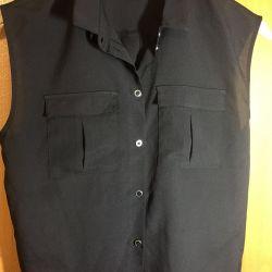 💥 Μπλούζα πουκάμισο χωρίς μανίκια