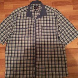 Ανδρικό πουκάμισο με κοντό μανίκι x / 100 τοις εκατό