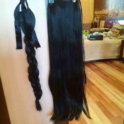 Коса- хвост и хвост 65см.