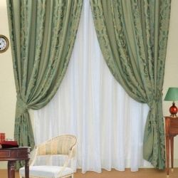 Set of curtains Ester green