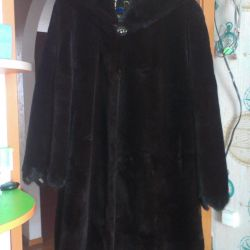 Beaver fur coat nat.