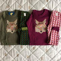 Pijamale noi de 98-110 cm