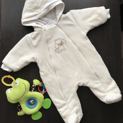 Plush overalls on a synthetic winterizer