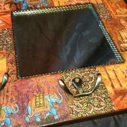 Breloc - cuier - decupaj oglindă Buddha