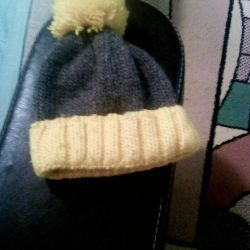 Hat knitted, winter