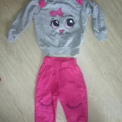 Knitted kitty costume
