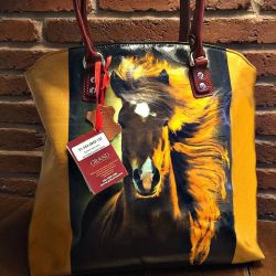New author's fashionable bag made of genuine leather