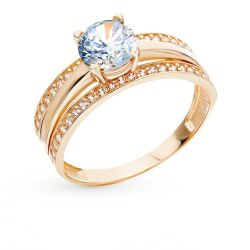 Gold ring with cubic Zirkonia