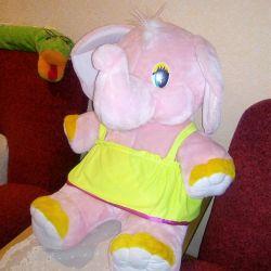 Elephant mare jucărie moale