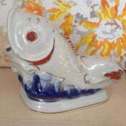 Figurine fish porcelain USSR