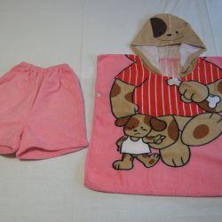 Beach poncho baby + shorts Doggie 110-116