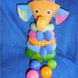 Piramida muzicală cu bile Tiny Love Elephant