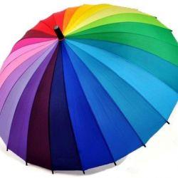 Rainbow umbrella cane 24 colors